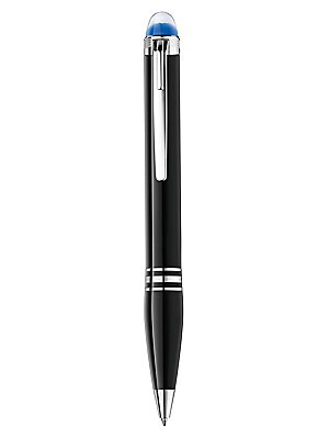 Image of From the StarWalker Collection. This StarWalker pen reflects a unique and dynamic style. Black precious resin with platinum-coated details, a characteristic clip design and the floating Montblanc emblem provide a modern take on Montblanc's values - creati