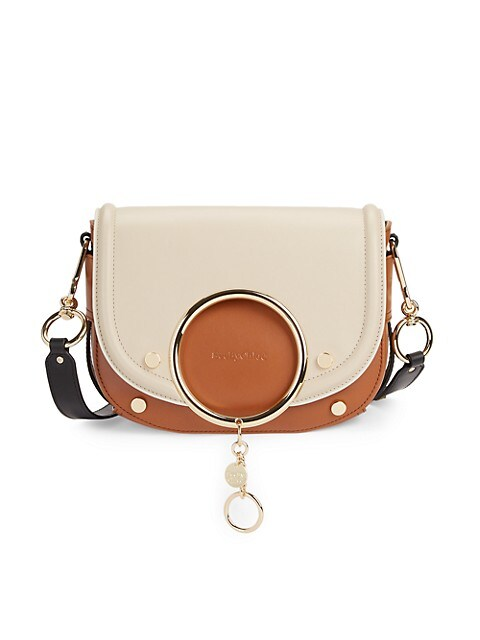 Mara Bi-Color Leather Saddle Bag