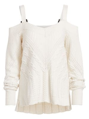 Jonathan Simkhai Off Shoulder Ring Strap Sweater