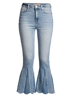 5aa744a806 Product image. QUICK VIEW. 7 For All Mankind. High-Rise Kick Flare Scallop  Hem Jeans