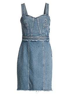 608502211b27a Product image. QUICK VIEW. 7 For All Mankind. Fray Denim Sheath Dress