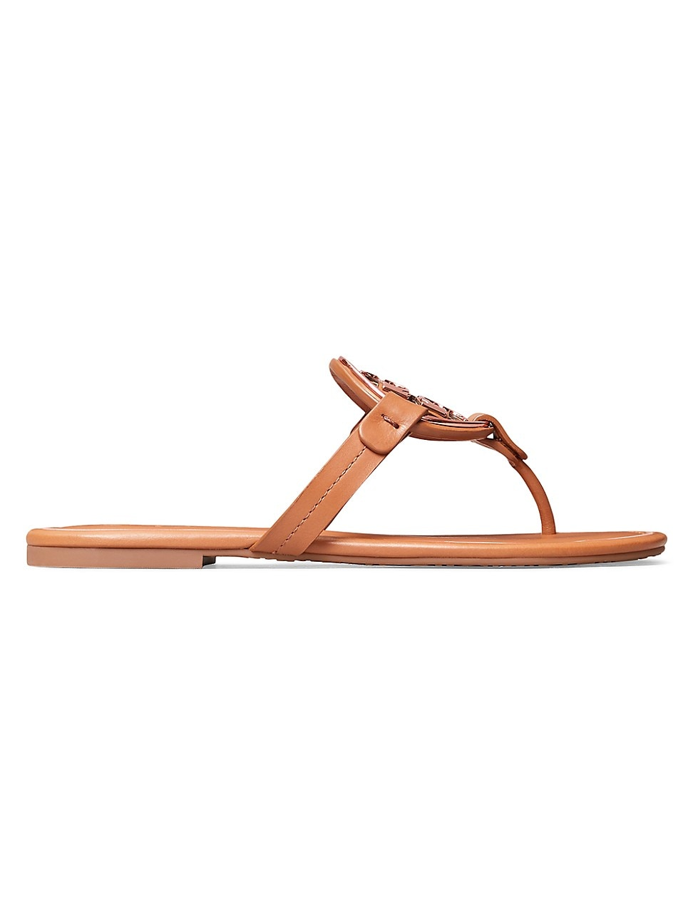 Tory Burch Leathers WOMEN'S MILLER METAL LEATHER THONG SANDALS