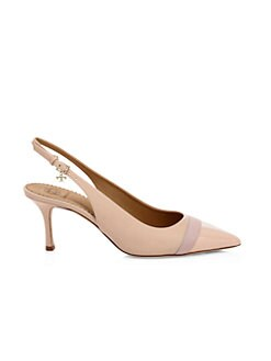 5c48dc65656d6 QUICK VIEW. Tory Burch. Penelope Grosgrain & Patent Leather Point Toe Pumps