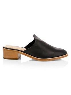 ab2faeaa4a9 NEW. Venetian Leather Mules BLACK. QUICK VIEW. Product image