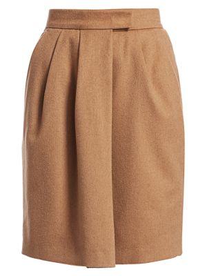 Max Mara Dany Camel Wool Wrap Skirt