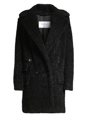 Max Mara Coats Lastra Lurex Wool-Blend Teddy Coat