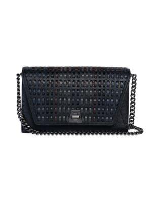 Akris Crossbody Anouk Envelope Woven Leather Crossbody Bag