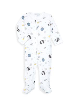 Baby Noomie Baby S Universe Print Pima Cotton Footie