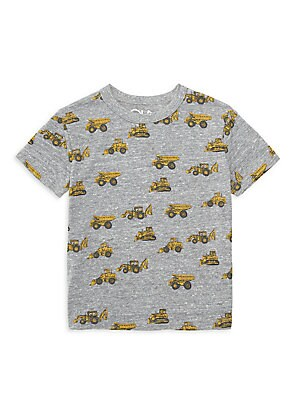 Image of A bright tracker print brings playfulness to this soft heathered tee. Crewneck Short sleeves Pullover style Polyester/cotton/rayon Machine wash Imported. Children's Wear - Contemporary Children > Saks Fifth Avenue. Chaser. Color: Streaky Grey. Size: 7.