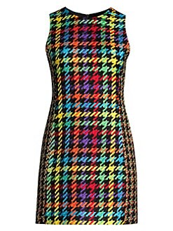 0f9e33f8de QUICK VIEW. Alice + Olivia. Coley Multicolor Houndstooth Dress