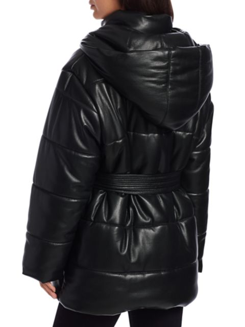 Nanushka Lenox Vegan Leather Puffer Coat | SaksFifthAvenue