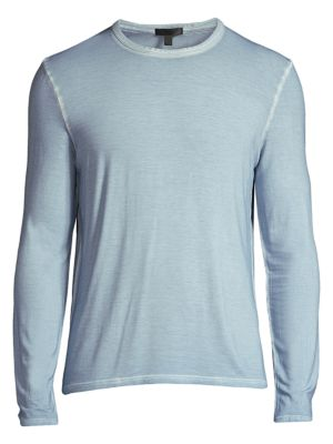 Atm Anthony Thomas Melillo Men's Sunbleached Jersey Crewneck Sweater In Blue