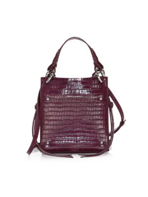 Rebecca Minkoff Mini Kate Croc Embossed Leather Tote