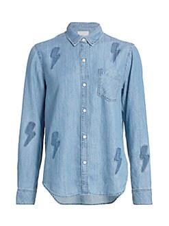 93be37b925e07a Women's Collard Shirts & Button Downs | Saks.com