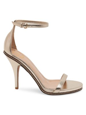 Valentino Garavani Starcarpet Metallic Leather Ankle Strap Sandal by Valentino