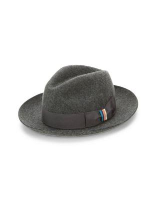 Paul Smith Men's Wool Felt Fedora In Grey