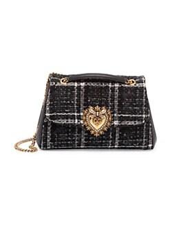 469d29246f36 QUICK VIEW. Dolce & Gabbana. Devotion Tweed Shoulder Bag