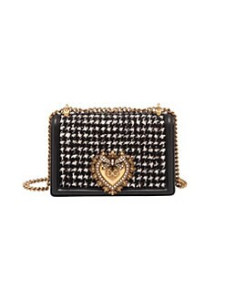 c5103371bb QUICK VIEW. Dolce & Gabbana. Devotion Houndstooth Crossbody Bag