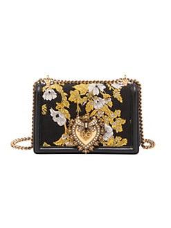 354bc400ec QUICK VIEW. Dolce & Gabbana. Devotion Floral Jacquard Crossbody Bag