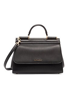 899ab37857 QUICK VIEW. Dolce & Gabbana. Sicily Leather Top Handle Bag