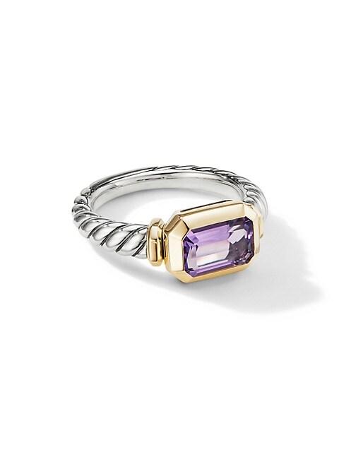 Novella Sterling Silver & 18K Gold Amethyst Ring