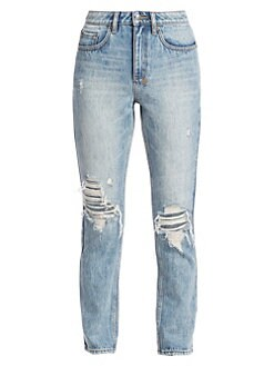 67b6200ca199 Product image. QUICK VIEW. Ksubi. High-Rise Slim Pin Straight Distressed  Jeans