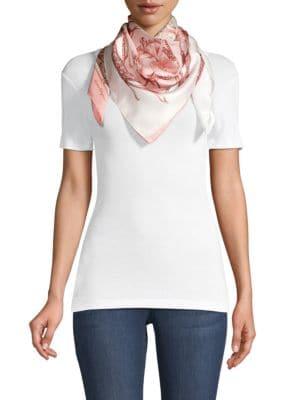 Salvatore Ferragamo Women's Print Silk Scarf In Rose