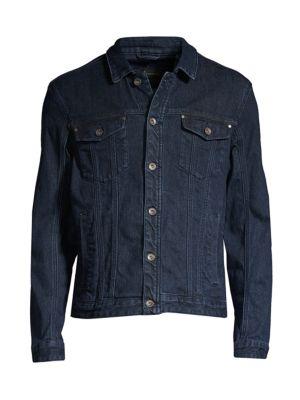John Varvatos Denim Trucker Jacket In Indigo