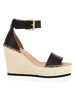 e21b940cc Glyn Leather Platform Wedge Espadrille Sandals BLACK. QUICK VIEW. Product  image. QUICK VIEW. See by Chloé
