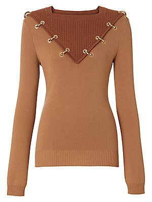03593a3c0f5 Burberry - Wool & Cashmere Goldtone Ring Sweater