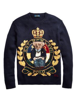 Polo Ralph Lauren Logo Crest Wool Blend Sweater