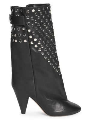 Isabel Marant Lakfee Studded Leather Midi Boots