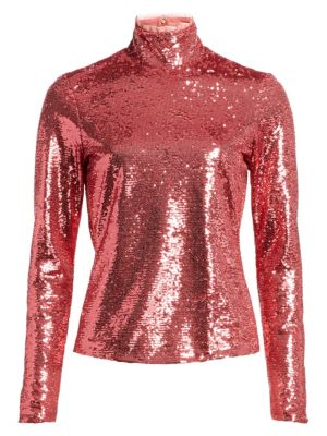 Cinq Sept Joan Sequin Highneck Top