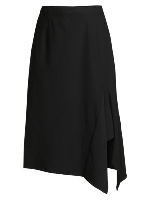 Misook Draped Side A Line Skirt