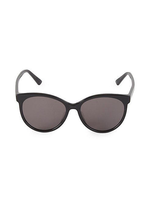 Oversized oval frames with logo lettering etched on temples. 100% UV protection Acetate Made in Italy SIZE 55mm lens width 17mm bridge width 150mm temple length. Soft Accessorie - Sunglasses > Saks Fifth Avenue > Barneys. Bottega Veneta. Color: Black.
