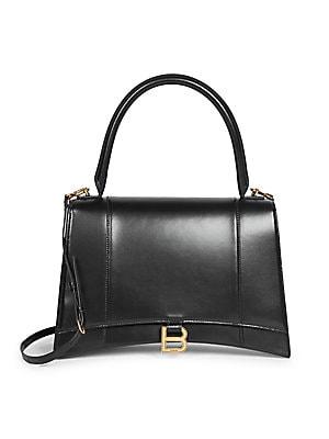 Medium Hour Leather Top Handle Bag by Balenciaga