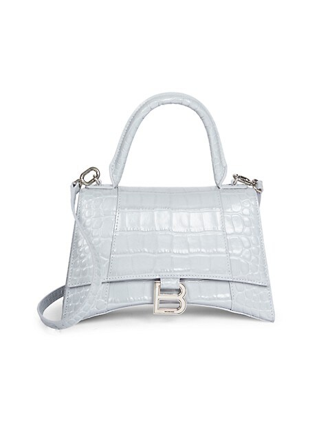 Small Hour Croc-Embossed Leather Top Handle Bag