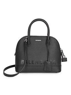 Metallic Mini City Leather Bag Medium Blue
