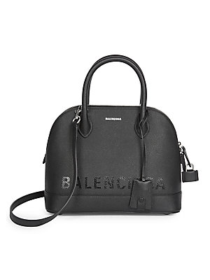 Small Ville Top Handle Leather Bag by Balenciaga