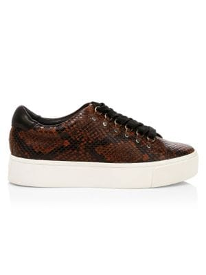 Joie Handan Snakeskin Embossed Platform Sneakers