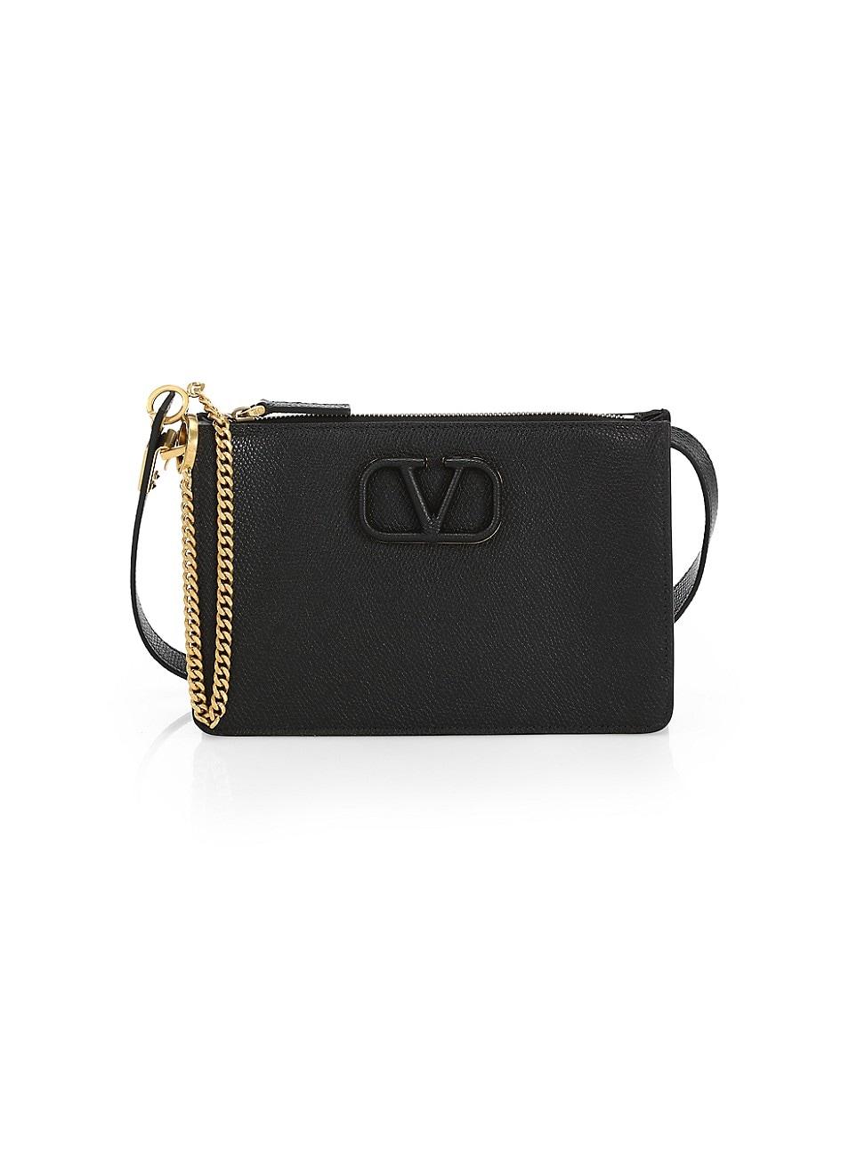 Valentino Garavani Garavani Vsling Leather Crossbody Pouch In Black