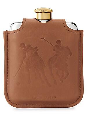 Ralph Lauren - Garrett Leather & Canvas Flask
