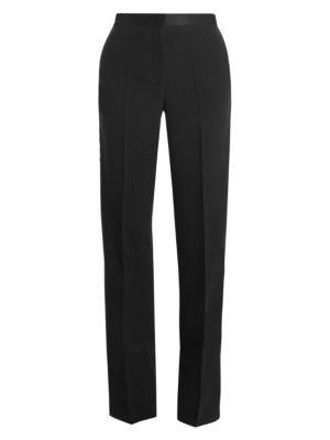 Versace Envers Satin Chain Tuxedo Pants