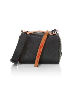 Mcm Milano Boston Leather Box Bag