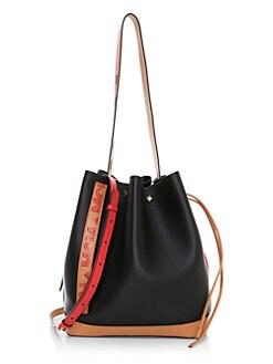 b8843d989 QUICK VIEW. MCM. Medium Milano Drawstring Leather Bucket Bag