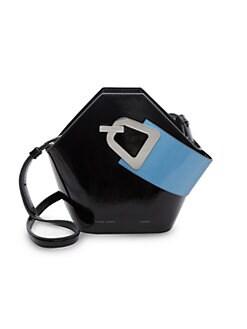 e971269dc Danse Lente. Mini Johnny Geometric Patent Leather Bucket Bag