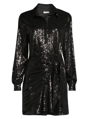 Parker Palmas Sequin Mini Shirtdress