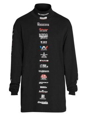 664e4653e Balenciaga - Logo Graphic Longline T-Shirt - saks.com