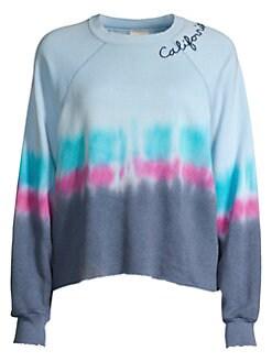 330888b1cf QUICK VIEW. I Stole My Boyfriend's Shirt. California Cropped Tie-Dye  Crewneck Sweatshirt