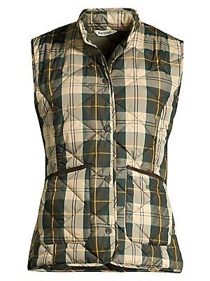 modern-country-hartan-quilted-plaid-vest by barbour